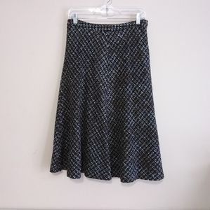 Jones New York Tweed A-line Midi Skirt